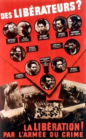 """L""""Affiche rouge"""" de résistants condamnés (le réseau Manouchian), 1944"""